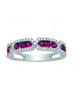 bague rubis, diamants